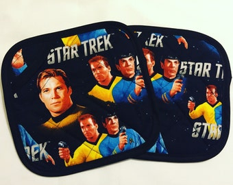 Star Trek TOS Kirk and Spock Pot Holders - set of two