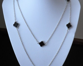 Long Clover Accent Necklace
