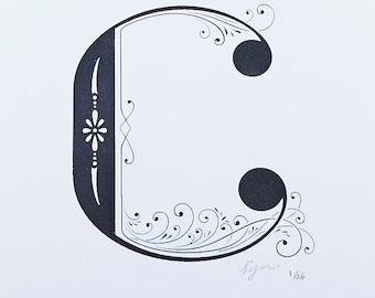 Letter C - Limited Silkscreen Art Print