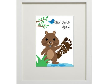 Woodland Beaver (digital footprint)