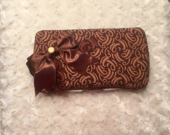 Brown Printed Wipe Case