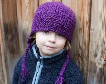 Simple Crochet Earflap Hat