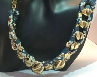 Big collar mesh gold