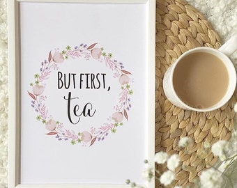 But first, tea print