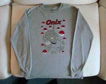 Pokeman- Onix, T-shirt, birthday gift
