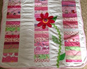 Springtime baby quilt