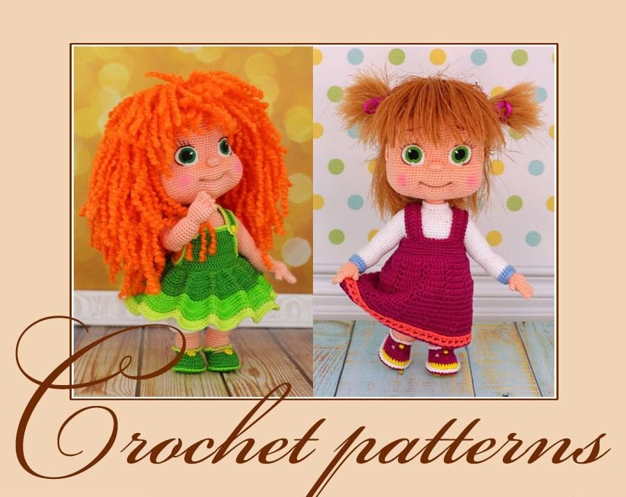 Amigurumi Tutorial Masha : Irinka and Masha - Amigurumi Crochet Patterns PDF files by ...