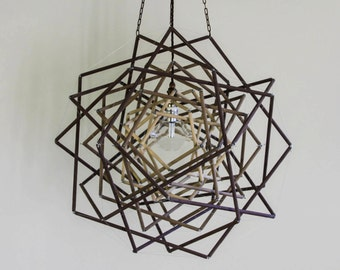 TROY 3 layer tensegrity pendant light....free delivery within Melbourne