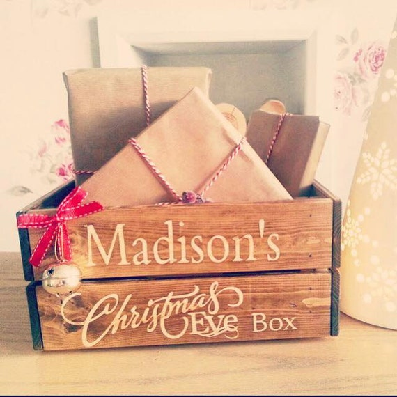 Personalised Christmas Eve crate Christmas by Littlelightstudios