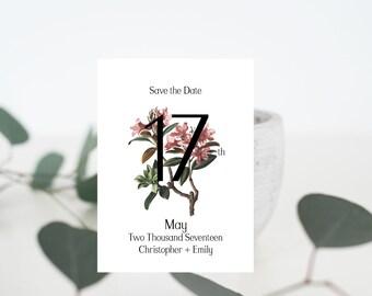 Vintage Floral Save The Date | Digital File