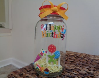 Birthday Fun Time Jar Light
