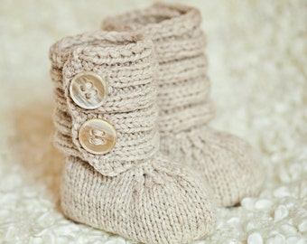 Knitting Pattern (pdf file) Instant Download - Baby Booty Boots