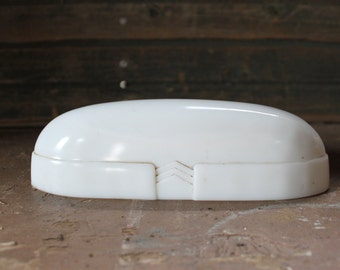 Vintage Porcelain Bathroom Light Cover