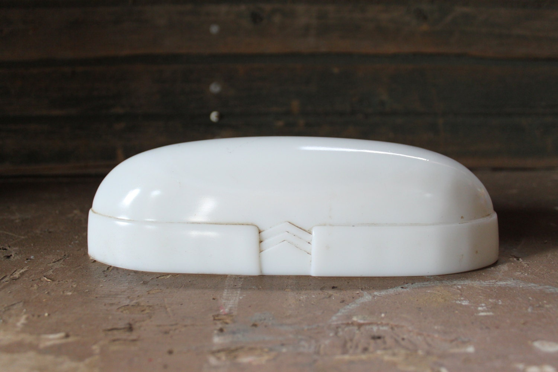 vintage porcelain bathroom light cover