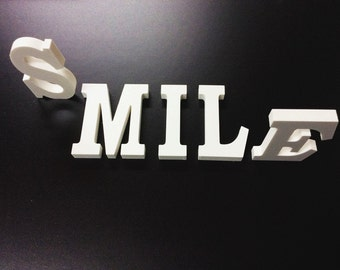 White PVC  Letters - A-Z  available