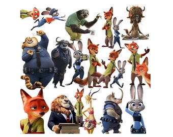 Zootopia 20 PNG files clipart