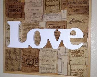 Wine Decor/ Wine Wall Decor/ Wine Cork Art/ Wall hanging/ Flattened Corks