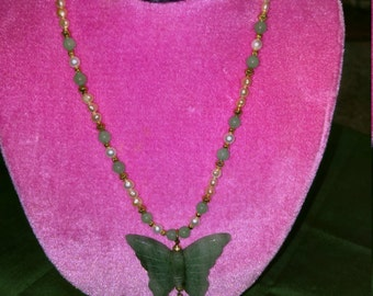 Jade Butterfly necklace
