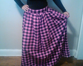 Plaid maxi skirt