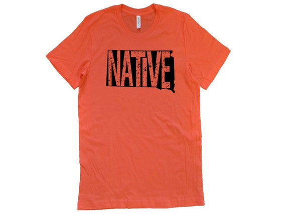 South Dakota T Shirt Native State Outline Apparel Great Gift