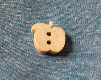 10 apple shaped buttons