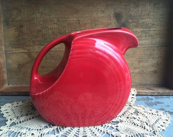 Red Fiestaware Pitcher