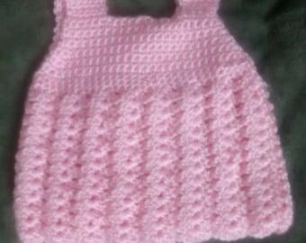 Crochet Pink Baby Summer Dress