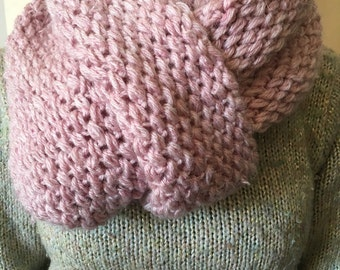 Pink winter scarf
