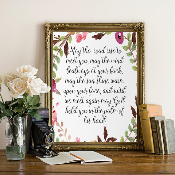 Blessings Home Decor: Irish Blessing Printable Decor Wall Art Decor PosterQuote