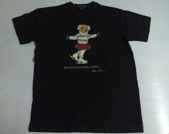 Vintage Ralph Lauren Polo Bear T-shirt Size M