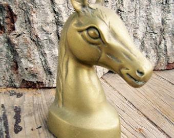 Vintage Brass Horse Head