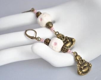 Ceramic Buddha earrings