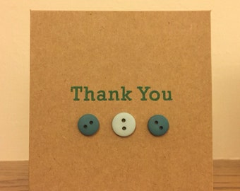 Button thank you cards (pack of 5)