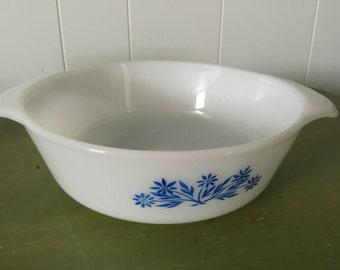 Vintage 1960's Pyrex Cornflower Blue Casserole Dish