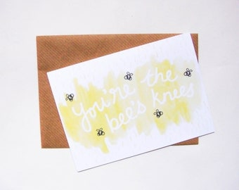 The Bee's Knees Greeting Card