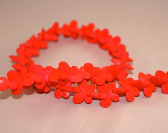 Flowers color red fluorescent beading beads Crafts Jewelry Beads Eagles Jewellery jewelry, supplies, charms pack 50 units
