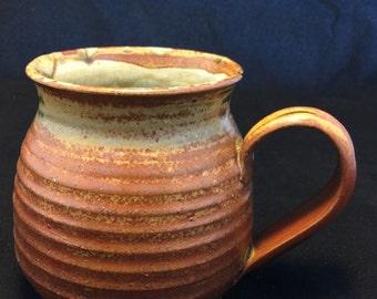 Red and Brown Pottery Mug