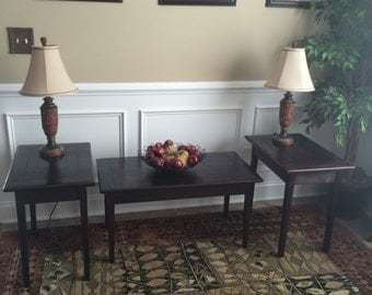 Coffee table and two side tables set