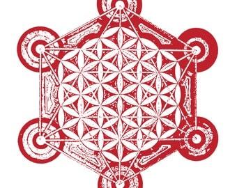 Metatron's Flower - ink stamp effect