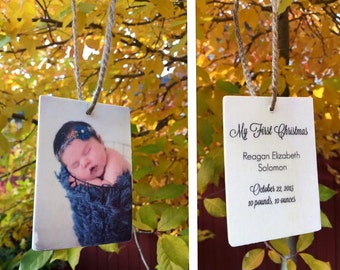 Custom Wood Photo Ornaments