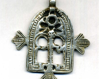"Morocco – Talisman – Amulet  ""Gate of Paradis"" old Silver Pendant for necklace"