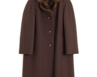 Mink Collared Coat   Boxy Women's Coat