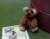 Handmade miniature teddy bear,1 in tall,fabric mini teddy bear,doll house miniatures,tiny bear,artist bear,limited edition,tiny teddy bear