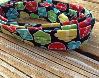 Fabric-Wrapped Dog Leash in Colourful Tags