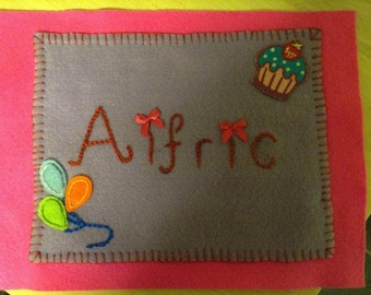 Personalized Hand Sewn Name Appliqué's