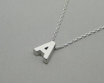 Initial necklace, Personalized jewelry, Silver initial necklace, Custom letter necklace, Letter necklace, Initial jewelry