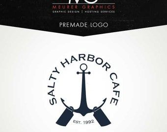 Premade Nautical Cafe Logo