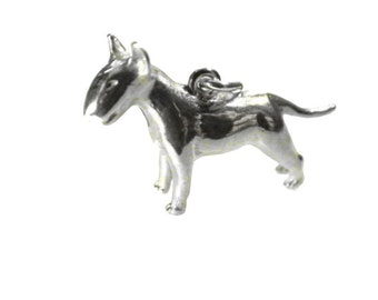 Pendant Bullterier Silver 925 Terriers dog dogs silver pendants of charms