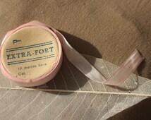 Vintage Seam Tape french flea market sewing Craft Neddle Pink antique Dolls fashion