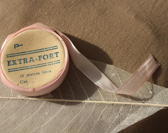 Vintage Seam Tape french flea market sewing Craft Neddle Pink antique Dolls fashion